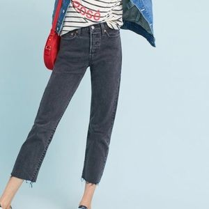 Anthropologie Levi's Wedgie Straight 27